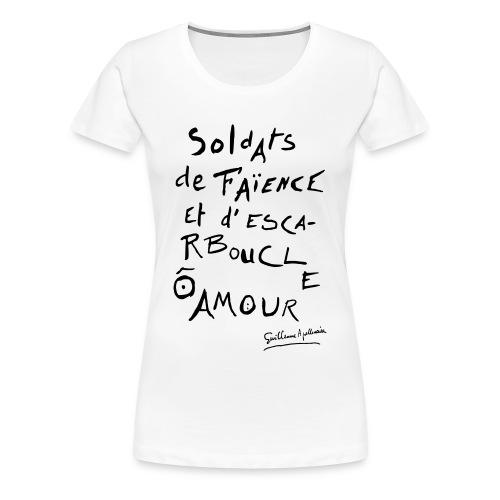 T-shirt Femme - Calligramme Soldat de faïence - T-shirt Premium Femme