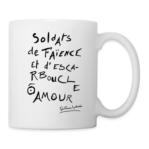 Tasse - Calligramme Soldat de faïence - Mug blanc