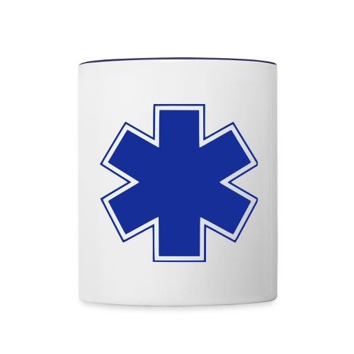 Tasse croix de vie ambulancier - Mug contrasté