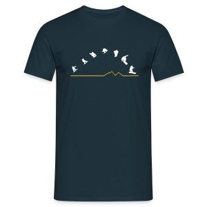 Sequences  (Navy) - Men's T-Shirt