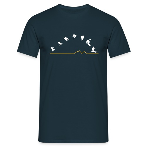 Sequences  (Navy) - Men's T-Shirt
