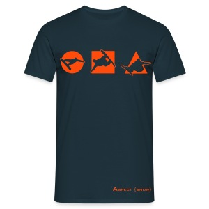 Shapes (Navy) - Men's T-Shirt
