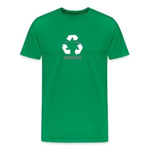 Eat Sleep Snowboard (Green) - Men's Premium T-Shirt
