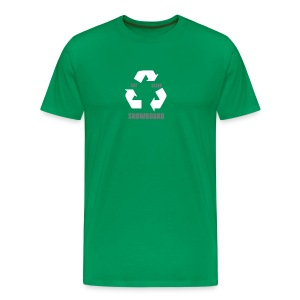 Eat Sleep Snowboard (Green) - Men's Premium T-Shirt