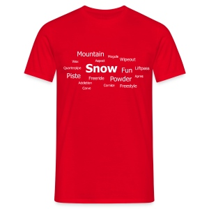 Tag Cloud (Red) - Men's T-Shirt