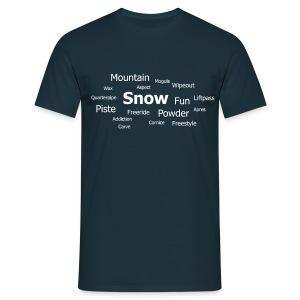 Tag Cloud (Navy) - Men's T-Shirt