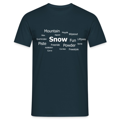 Tag Cloud (Navy) - Men's T-Shirt