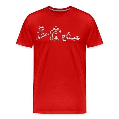 Drunk (Red) - Men's Premium T-Shirt