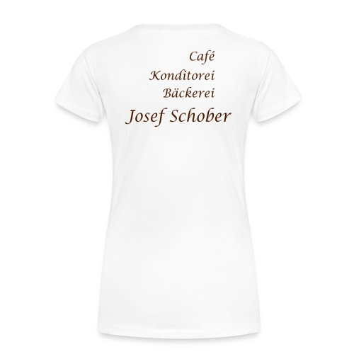 Cafe Schober Frauen T-Shirt weiß - Frauen Premium T-Shirt