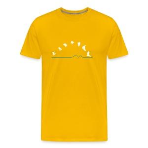 Sequences  (Yellow) - Men's Premium T-Shirt