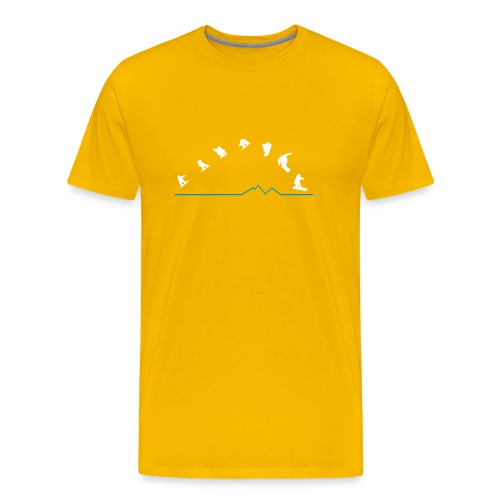 Sequences  (Yellow) - Men's Premium T-Shirt