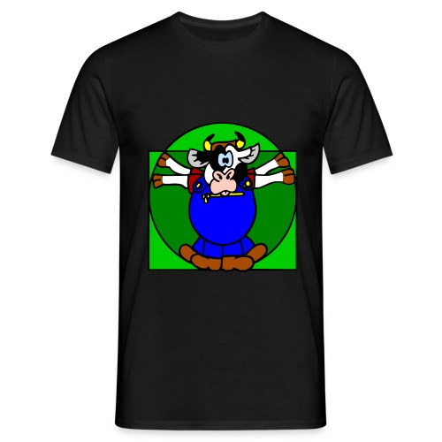 Leonardo Kuh - Männer T-Shirt