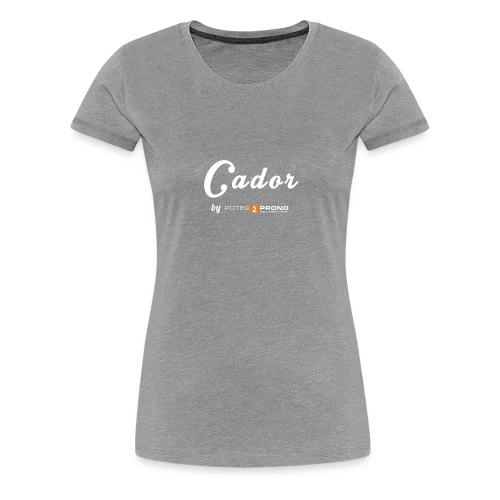 Cadorette Discrette - T-shirt Premium Femme