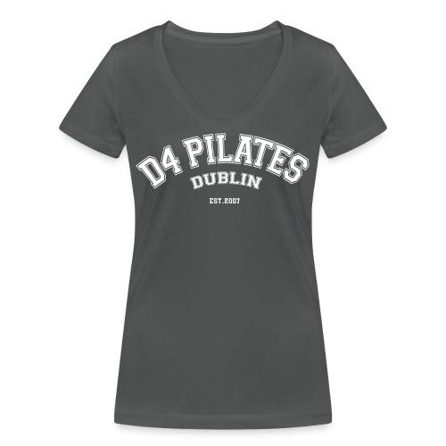 College-style t-shirt - Women (v-neck, grey) - Women's Organic V-Neck T-Shirt by Stanley & Stella