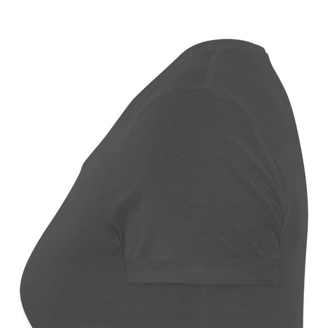 College-style t-shirt - Women (v-neck, grey)