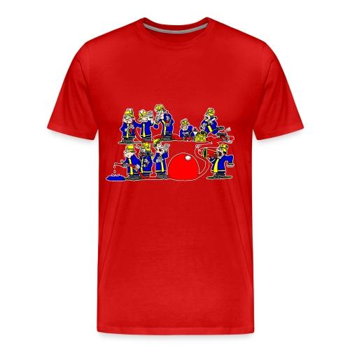 Die Gruppe im Löschangriff - Männer Premium T-Shirt