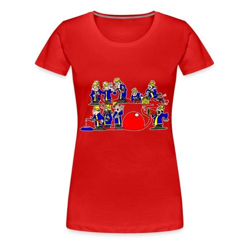 Die Gruppe im Löschangriff - Frauen Premium T-Shirt