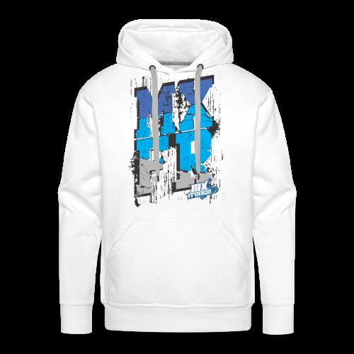 MXFR Bleu - Sweat-shirt à capuche Premium pour hommes