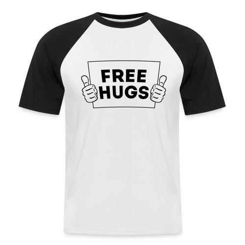 Free Hugs! Daumen Hoch/Like Schild 1C - Männer Baseball-T-Shirt