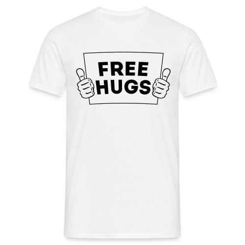 Free Hugs! Daumen Hoch/Like Schild 1C - Männer T-Shirt