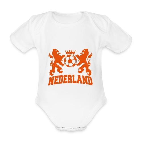 Baby body Nederland wit - Baby bio-rompertje met korte mouwen