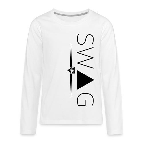 Långärmad T-shirt Swag - Långärmad premium T-shirt tonåring