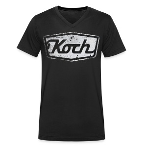 Koch Shirt - Mannen bio T-shirt met V-hals van Stanley & Stella