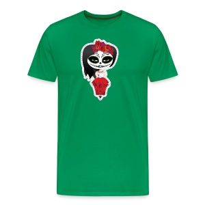 Pin Up T-shirt H - Sugar Skull Girl - T-shirt Premium Homme