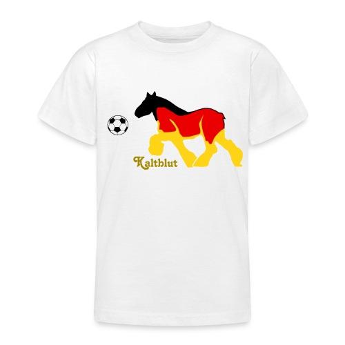 Kaltblut Fußball - Teenager T-Shirt