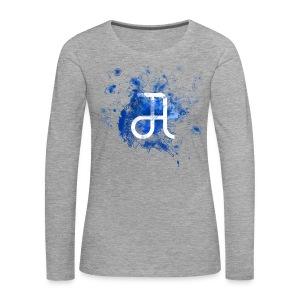 Glyphe Blau Longsleeve ♀ - Frauen Premium Langarmshirt
