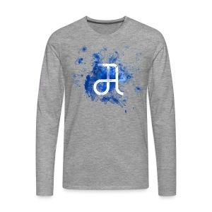 Glyphe Blau Longsleeve ♂ - Männer Premium Langarmshirt