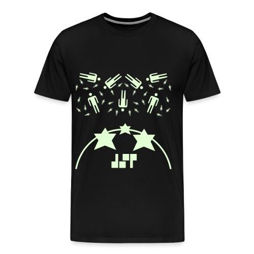 Humans In The Sky (glow in the dark, Premium-shirt), Male - Men's Premium T-Shirt