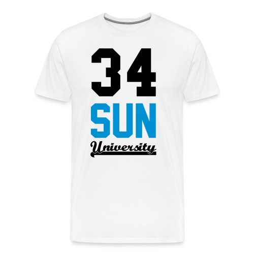 Tee shirt homme 34 Sun Universirty marquage Black and blue Neon - T-shirt Premium Homme