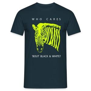 Zebra neon  - Männer T-Shirt