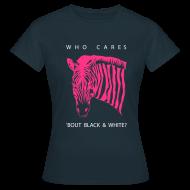 T-Shirts ~ Frauen T-Shirt ~ Zebra pink