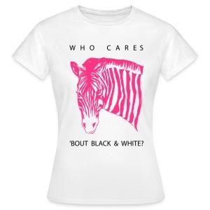 Zebra pink - provokatives T-Shirt - Frauen T-Shirt