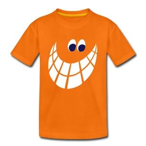 Smilie, weiss-marine - Kinder Premium T-Shirt
