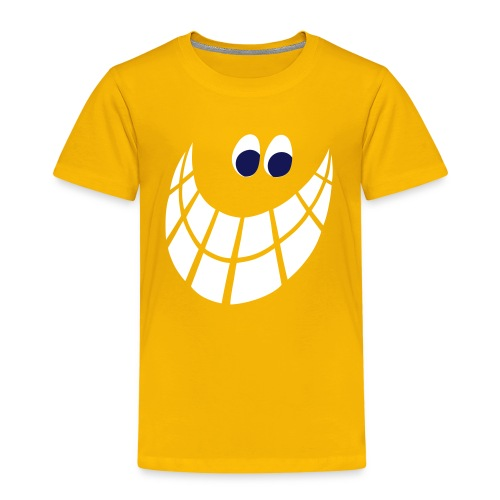 Smilie, weiss-marine - Kinder Premium T-Shirt