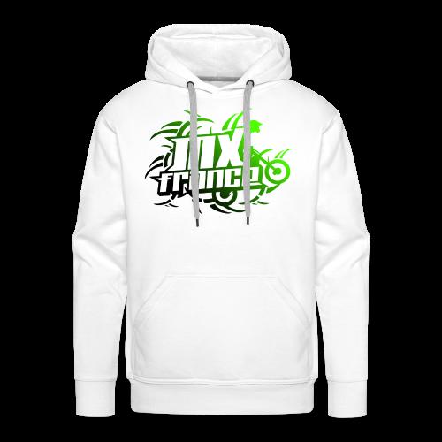 Tribal Lime Dark - Sweat-shirt à capuche Premium pour hommes