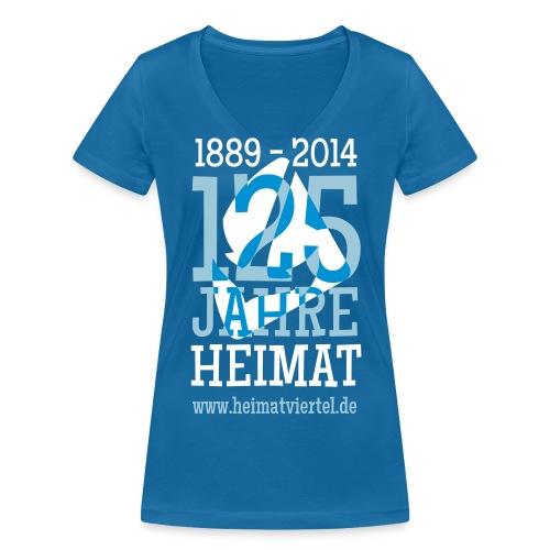 Frau-Shirt V-Ausschnitt 125 Jahre - Frauen Bio-T-Shirt mit V-Ausschnitt von Stanley & Stella