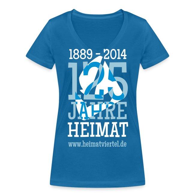 Frau-Shirt V-Ausschnitt 125 Jahre