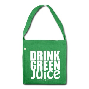 Drink Green Juice Recycled Shoulder Bag - Shoulder Bag made from recycled material