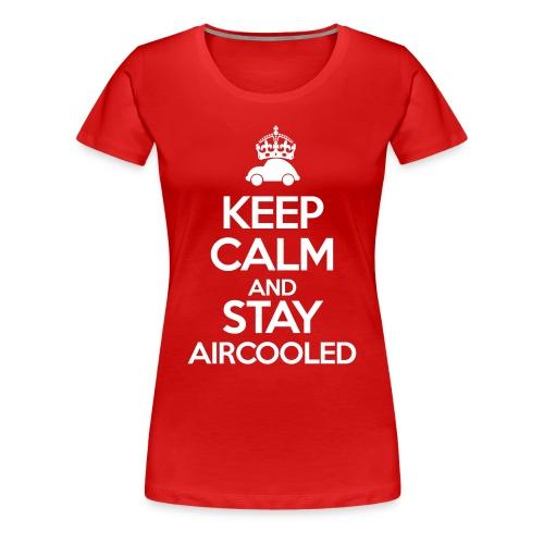 Keep Calm and stay Aircooled - Koszulka damska Premium