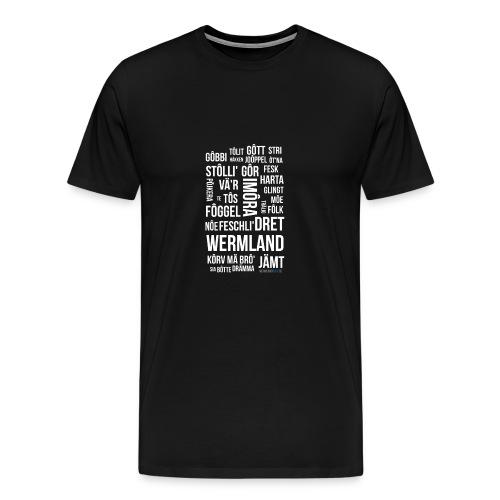 Värmländska Ord - Premium-T-shirt herr
