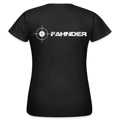 Shirt Fahnder Druck hinten / Rücken - Frauen T-Shirt
