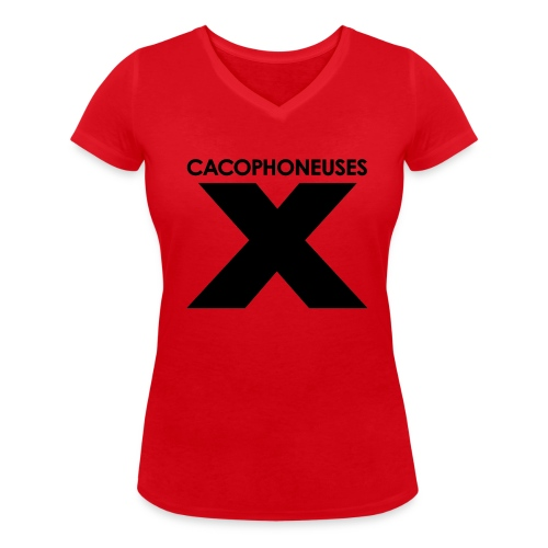 Red line - Women's Organic V-Neck T-Shirt by Stanley & Stella