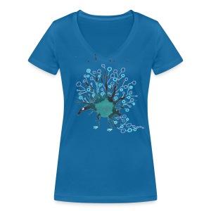 Blauling No. 7 - Frauen Bio-T-Shirt mit V-Ausschnitt von Stanley & Stella
