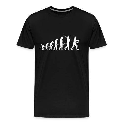 Evolution zum nordic Walker - Männer Premium T-Shirt