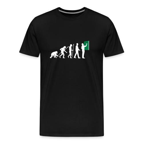 Evolution zum Lehrer - Männer Premium T-Shirt