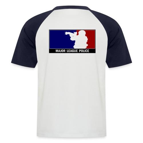 Major League Police hinten - Männer Baseball-T-Shirt